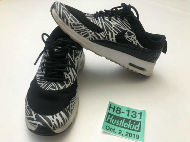 Nike Air Max Thea Print Women Sneaker Shoes BlackWhite (599408 010) Size 7.5❄️