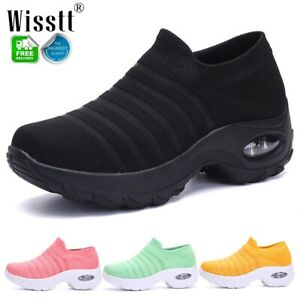 Women-039-s-Air-Cushion-Athletic-Sneakers-Sport-Walking-Breathable-Walking-Shoes-Gym
