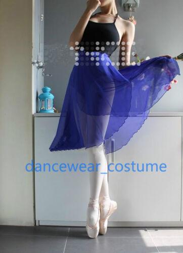 Adult Ladies Ballet Gymnastics Tutu Dance Hip Wrap Scarf Skirt 60cm Length Chiff