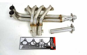 OBX-Exhaust-Tri-Y-Header-Manifold-Fits-90-91-Prelude-Si-2-0L-B20A-Slip-join