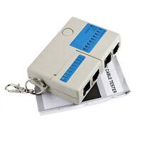 Mini Telephone RJ45 RJ11 Cat5 Network USB LAN Cable Tester Teat Tool Keychain FS