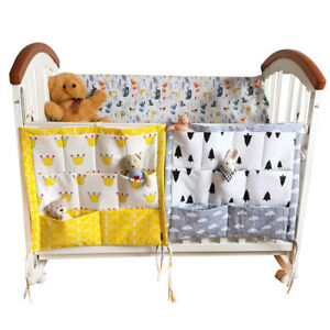 Baby-Bed-Hanging-Storage-Bags-3-Layers-Bedding-Crib-Diaper-Organizer-Pockets