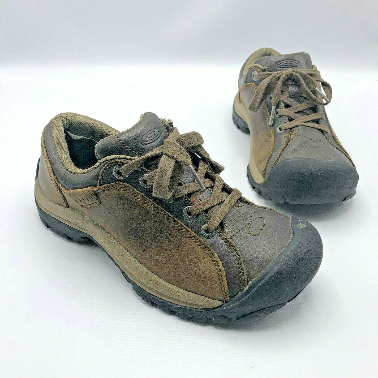 Keen Briggs Women Brown Lace Up Hiking Walking shoes Size 6.5 Pre Owned