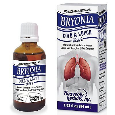 Bryonia Cold & Cough Drops, Cough, Sore Throat, Chest Congestion & Flu  Relief 855719007495   eBay