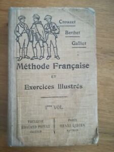 Crouzet-Berthet-Galliot-Methode-Francaise-et-exos-illustres-1912