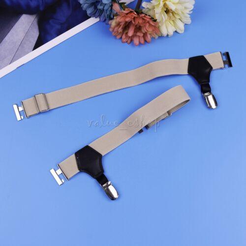 Men Shirt Stays Socks Garters Braces For Shirts Elastic Business Suspenders