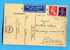 1937 UFFICIO POSTALE SPECIALE 3 del 15.09.37 su IMP.c.20 + P.A.IMP.£.1 (239966)