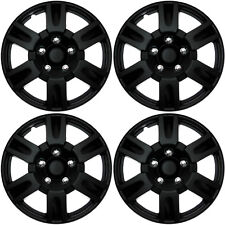 4 Pc Set Hub Cap Abs Black Matte 16 Inch For Oem Steel Wheel Cover Caps Covers Fits Mustang