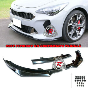 CK-Style Front Lip (ABS) Fits 18-22 Kia Stinger GT-Line GT GT1 GT2 GTS