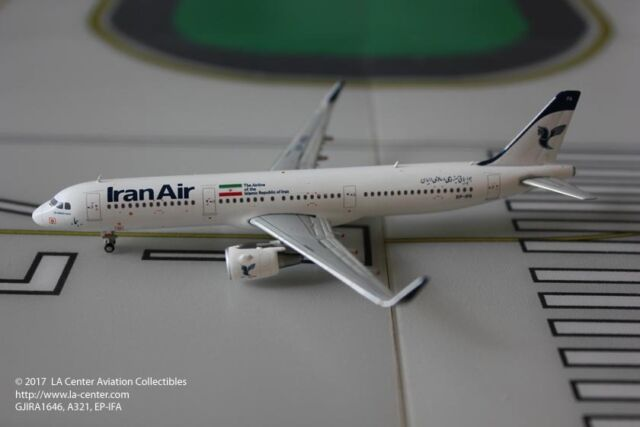 S 1:400 NEW LIVERY DIECAST MODEL GJIRA1646 GEMINI JETS IRAN AIR A321-200