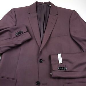 Tiger of Sweden Wool Suit Separate Jacket Mens Size US 42L Long Burgundy Red