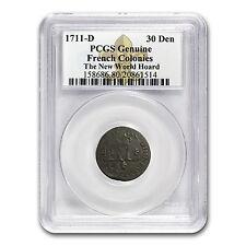 France 1711D 30 Deniers Billon Louis XIV PCGS Genuine
