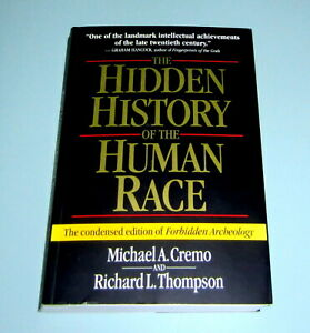 SIGNED-by-MICHAEL-CREMO-HISTORY-HUMAN-RACE-FORBIDDEN-ARCHEOLOGY-Fossils-Evidence