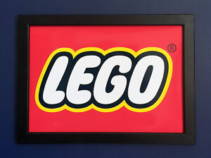 Lego-Logo-Framed-A4-Size-Poster-Shop-Sign-Advert-very-high-quality