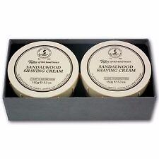 Taylor of Old Bond Street Sandalwood Shaving Cream Tubs Gift Box (2x 150g)