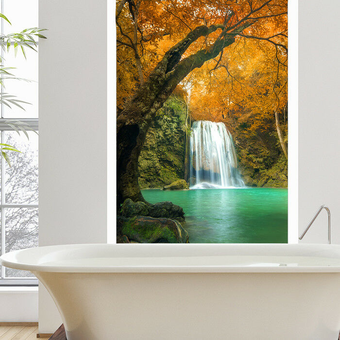 Waterfall orange Trees Wall Mural Thailand Photo Wallpaper Bedroom Home Decor