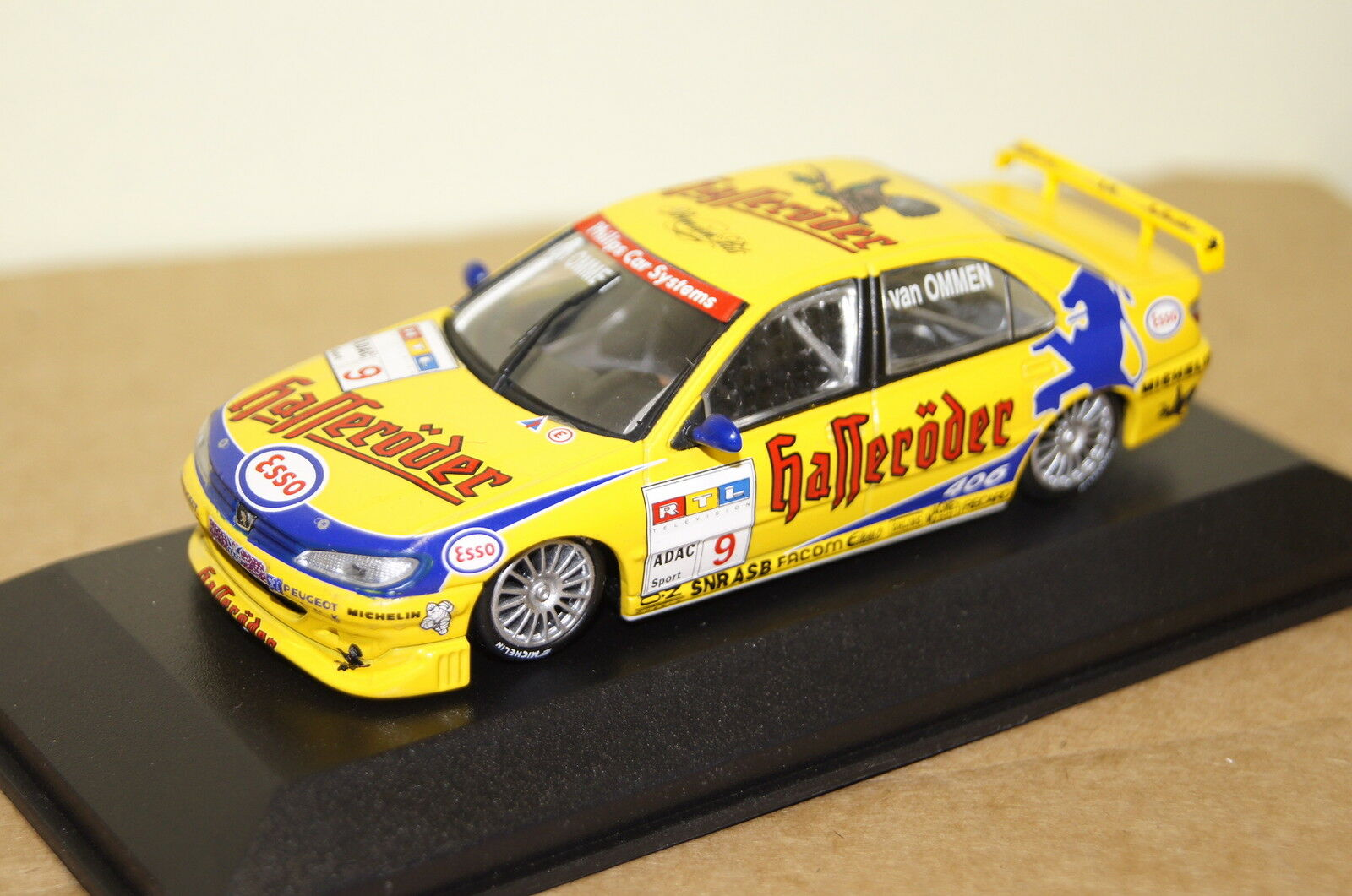 PEUGEOT 406 STW 1997 odio roder #9 GIALLO 1:43 Minichamps Nuovo & Ovp 430971109