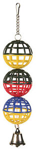 3-Lattice-Balls-Bird-Toy-with-Chain-amp-Toy-Bell-Budgie-Canary-Toy-Various-Colours
