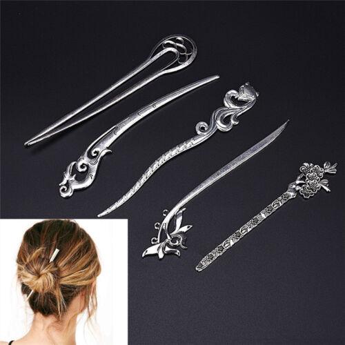 Hair Sticks Pin Silberlegierung geometrische Stirnbänder Lady Hair Clip ZubeRSDE