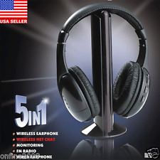 5 IN 1 Wireless Headphone Casque Audio Sans Fil Ecouteur Hi-Fi Radio FM TV MP3