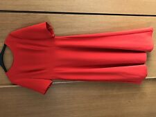 LK BENNETT STUNNING RED CALF LENGTH DRESS SZ 14 SUMMER WEDDING RACES WORN ONCE