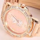 Fashion Geneva Women Crystal Rhinestone Dial Stainless Steel Quartz Wrist Watch