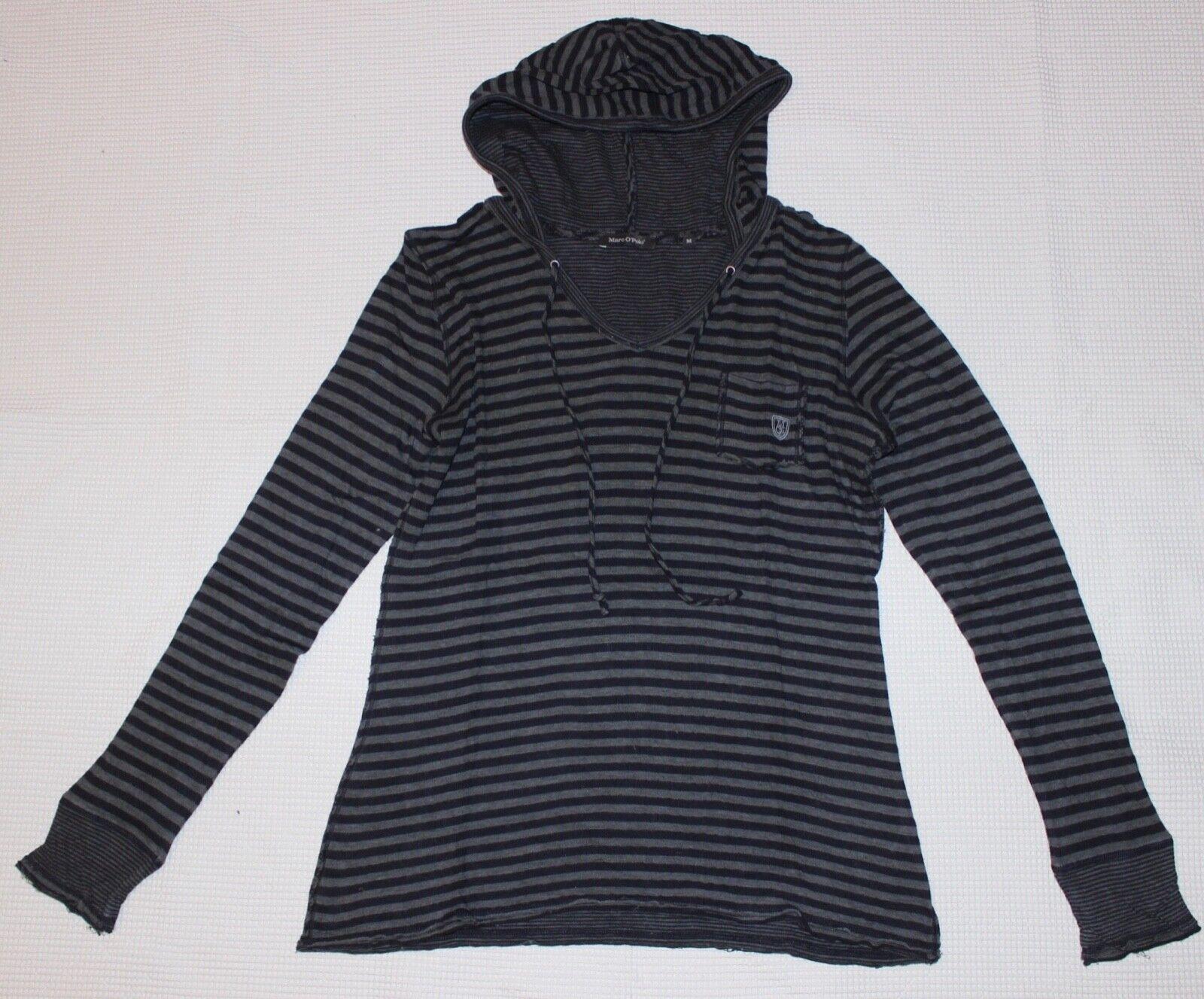 48b055fa1f Marc O`Polo Hoodie Kapuzensweatshirt schwarz-grau-gestreift Gr. M Vintage