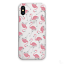 Pink-Flamingo-Phone-Case-Animal-Print-on-Clear-Hard-Cover-For-Apple-iPhone-11-X miniature 1