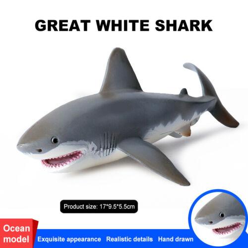 Lifelike Shark Shaped Toy Realistic Motion Simulation Animal Model for Kids