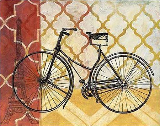 Nan  Cyclisme III Keilrahmen-Bild Leinwand Fahrrad Verkehr Technik