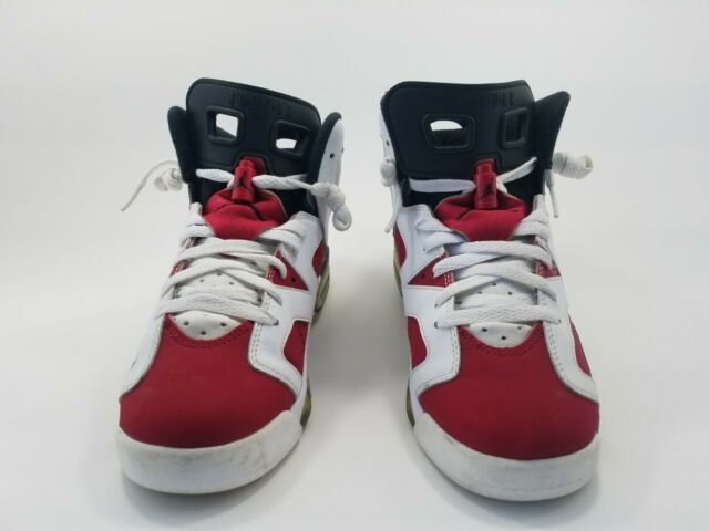 buy online db549 6415c Nike Air Jordan 6 Retro Basketball Shoes White Carmine Black Size 7Y  384665-160