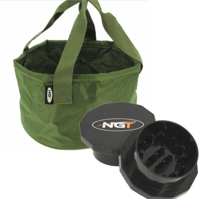 NEW NGT Grinder Boilie Crusher /& Match Catapult Groundbait Mixing Bowl NGT Deal
