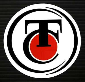 TC THOMPSON CENTER DECAL STICKER MUZZLE LOADER BLACK POWDER HUNTING 50 CALIBER