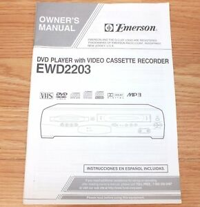 genuine emerson ewd2203 vcr vhs video recorder owners manual only rh ebay com Emerson DVD VCR Combo Emerson Thermostat User Manual