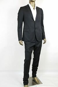 d9c851214 New Authentic Gucci Mens Wool Gray and Light Blue Plaid Suit 244547 ...