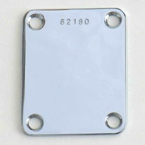 Plaque-Fixation-Manche-Neck-Plate-Serial-Number-Strat-Tele-P-J-Bass-Chrom-NP03C2