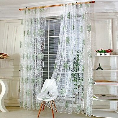 1x Screen Panel Divider Tulle Volie Room Window CurtainDecal Valances Wall Decor