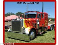 1981 Peterbilt 359 Semi Truck Refrigerator / Tool Box Magnet