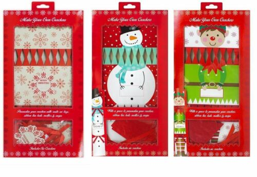 Christmas Crackers Make Your Own DIY Merry Christmas Xmas Party Tableware