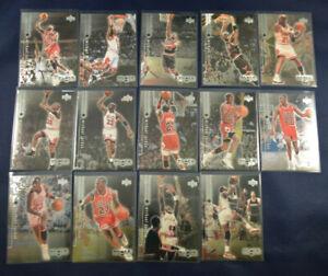 14-Card-Lot-1999-Upper-Deck-Black-Diamond-Set-Michael-Jordan-Bulls-HOF