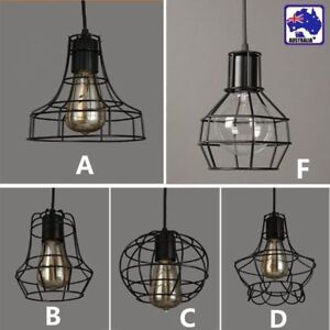 Mix vintage metal wire cage hanging lamp shade pendant light hlig804 image is loading mix vintage metal wire cage hanging lamp shade mozeypictures Image collections