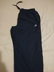 Pantalon de survêtement Adidas Climalite Bleu Foncé Taille L