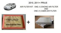 Prius Air Filter Kit - One (1) Engine Air & One (1) Cabin Air Filter, 2010+