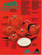 PUBLICITE ADVERTISING 024   1969    AUBECQ  casseroles ligne AAAH