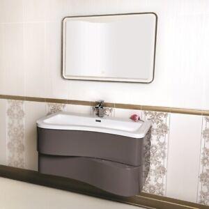 Immagini Relative A Bagni Moderni.Mobile Bagno Moderno Sospeso 90 Cm Con Lavabo E Specchio Con Led