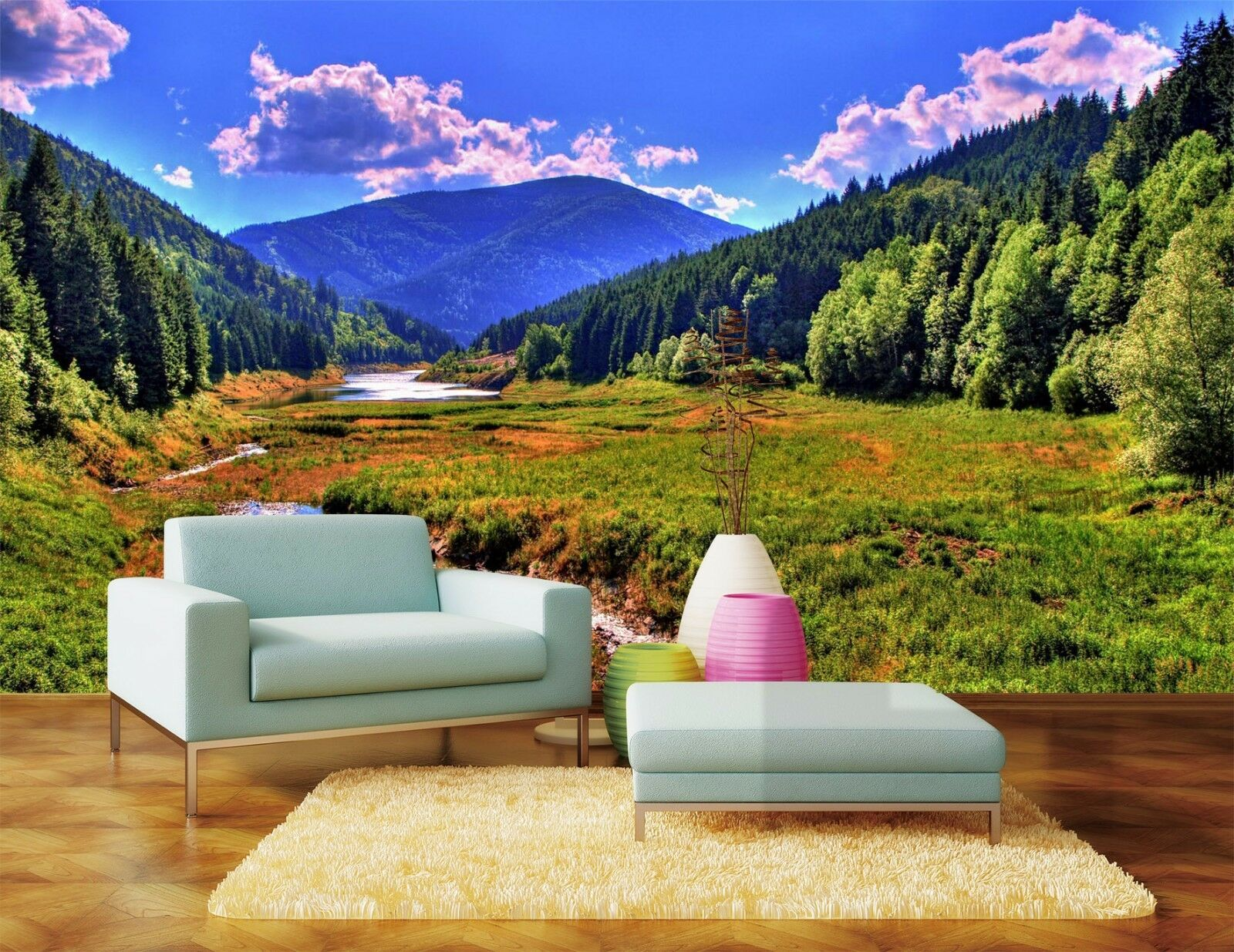 3D Lush mountain 354 Wall Paper Print Wall Decal Deco Indoor Wall Murals