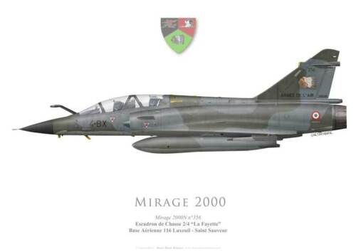 "EC 2//4 /""Lafayette/"" Print Mirage 2000N par G. Marie French Air Force"