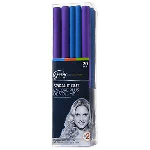 Goody 20 Flexible Rod Hair Rollers 2 Sizes