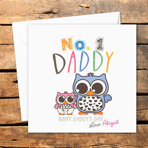 Image Is Loading Personalised Handmade Fathers Day Card Happy Birthday Daddy
