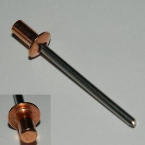 Blindnieten 4x10 Senkkopf  Nickel-Kupfer 10 Stk Dorn Stahl verzinkt